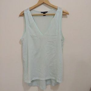 Banana Republuc light blue sheer tank top blouse
